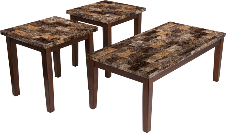 #12 - SIGNATURE DESIGN BY ASHLEY THEO 3 PIECE OCCASIONAL TABLE SET