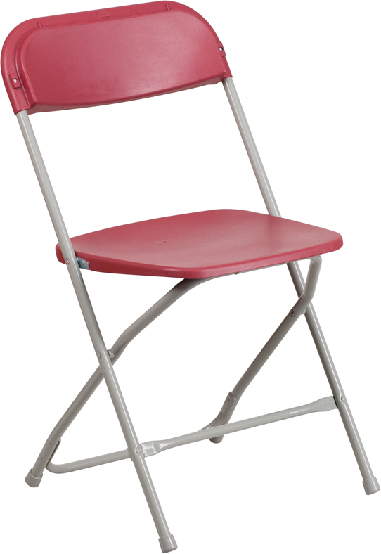 #13 - 300 LBS. PLASTIC FOLDING CHAIR RED COLOR