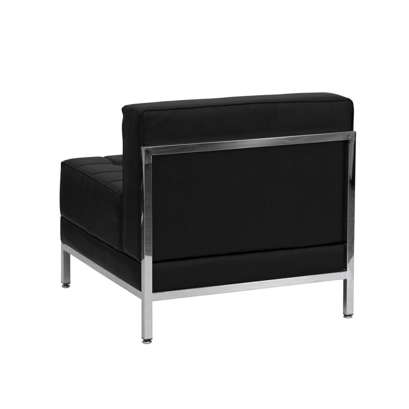 #55 - 11 Piece Imagination Series Black Leather Sectional Configuration