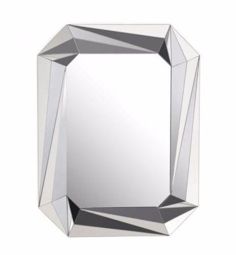 #11 - Modern Stylish Design Rectangular Mirror w/Small Facet Cut Mirror Pieces