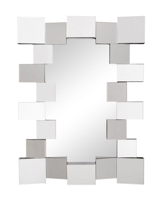 #22 - Stylish Mirror with Mirrored Blocks Clustering Around the Mirror