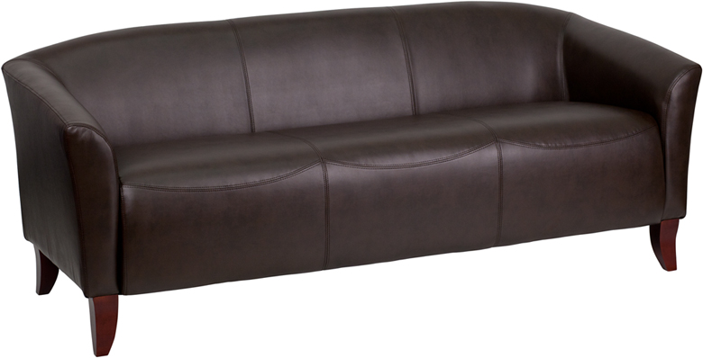#4 - IMPERIAL SERIES BROWN LEATHER SOFA