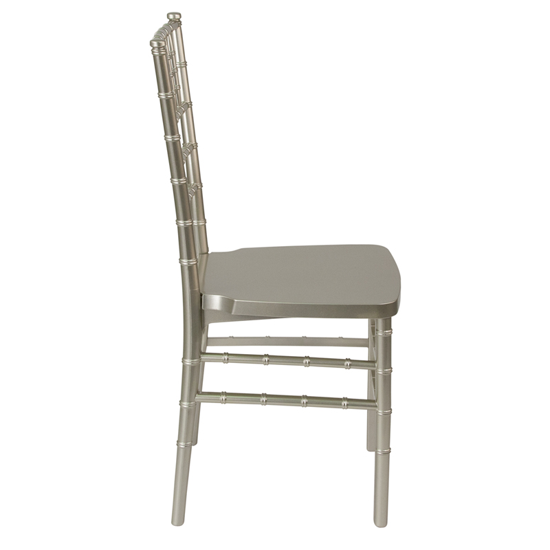#6 - Champagne Resin Stacking Chiavari Chair - FREE SEAT CUSHION