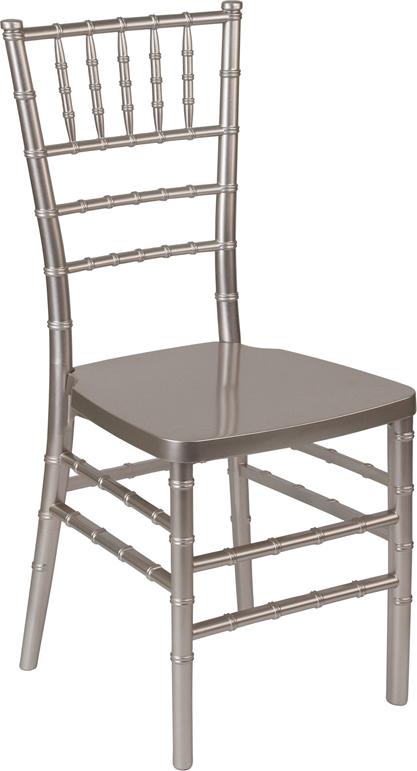 #7 - Pewter Resin Stacking Chiavari Chair - FREE SEAT CUSHION