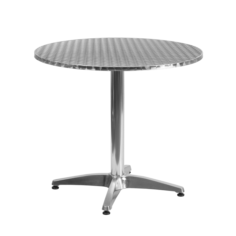 #41 - 31.5'' ROUND ALUMINUM INDOOR-OUTDOOR TABLE WITH BASE