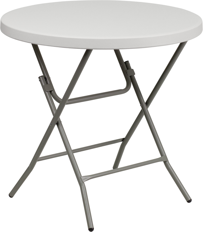 """#3 - 32"""" ROUND STANDARD HEIGHT PLASTIC FOLDING TABLE"""