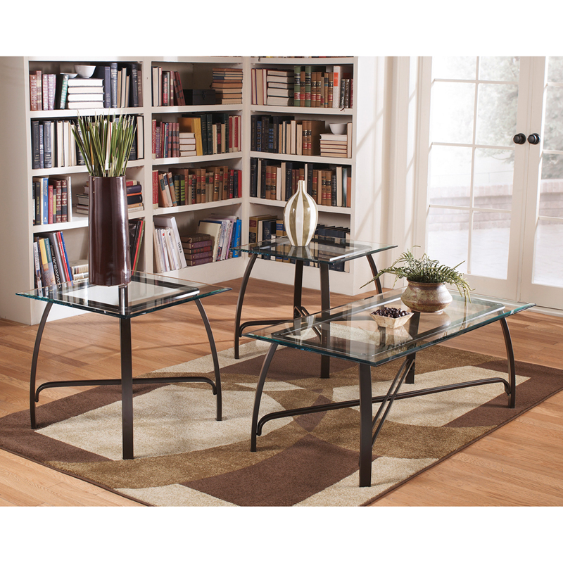 #7 - SIGNATURE DESIGN BY ASHLEY LIDDY 3 PIECE OCCASIONAL TABLE SET