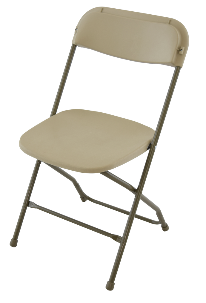 #11 - 300 LBS. PLASTIC FOLDING CHAIRS  BEIGE COLOR