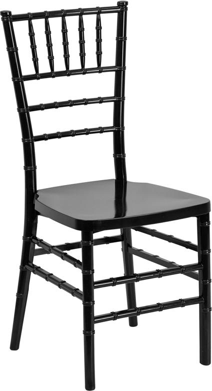 #1 - Black Resin Stacking Chiavari Chair - FREE SEAT CUSHION
